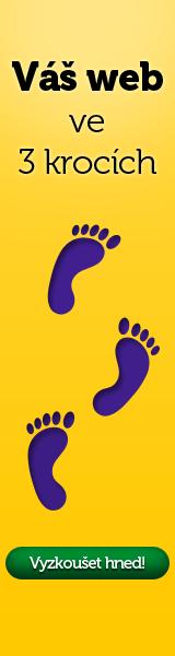 Webnode web ve 3 krocích - Vyzkoušejte
