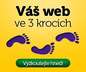 Váš web ve 3 krocích - Vyzkoušejte hned!
